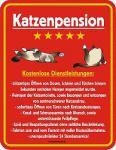 Funschild Katzenpension