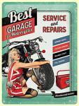 Best Garage green Blechschild