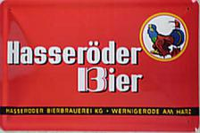 Hasseröder Bier, rot (quer) Blechschild