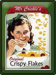 Mr. Crickles Crispy Flakes Blechschild