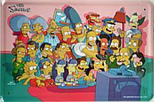 Simpsons - Family Blechschild