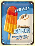 American Ice Pop Blechschild