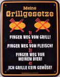 Funschild Grillgesetze