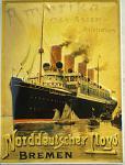 Norddeutscher Lloyd Ostasien-Australien Blechschild
