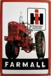 Farmall Traktor Blechschild