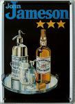 John Jameson Whiskey, schwarz Mini Blechschild