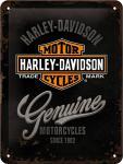Harley-Davidson - Genuine Logo Blechschild