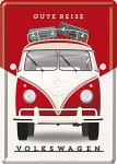 Blechpostkarte VW - Gute Reise
