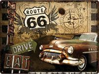 Route 66 Road Trip Blechschild
