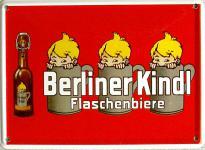 Berliner Kindl Flaschenbiere Mini Blechschild