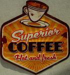 Coffee - Hot and fresh Blechschild