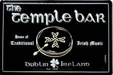 The Temple Bar schwarz No.2 Blechschild