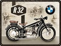 BMW - Motorcycle R32 Blechschild, 30 x 40 cm