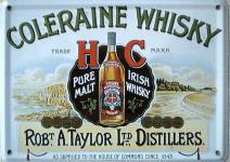 Coleraine Whisky Mini Blechschild