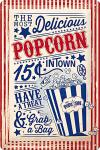 Popcorn Blechschild