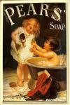 Pears Soap Kinder mit Hund Blechschild