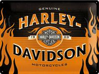 Harley-Davidson 1903 Logo Orange Blechschild
