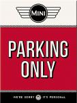 Magnet Mini Cooper - Parking Only Red