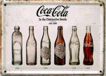 Coca Cola - In the destinctive bottle Mini Blechschild