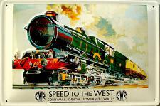 Speed To The West Blechschild