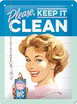 50's - Keep it clean Blechschild