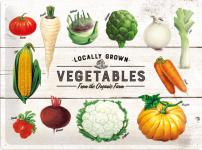 Vegetables Blechschild