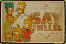 Simpsons - Say Cheese Beer Blechschild