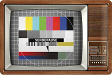Retro TV (Sendepause) Blechschild