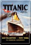 Blechpostkarte Titanic hellblau