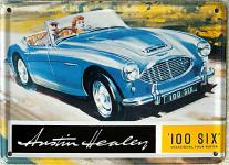 Austin Healey 100 Six Mini Blechschild