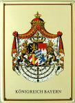 Königreich Bayern Mini Blechschild