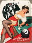 The Eight Ball Blechschild, 30 x 40 cm
