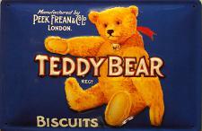 Teddy Bear Biscuits Blechschild