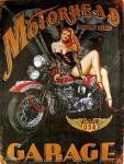 Motorhead Garage Blechschild, 30 x 40 cm