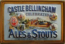 Castle Bellingham Ale and Stouts Blechschild