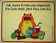 Funschild - Hab meine Ernährung umgestellt