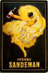 Sandeman Sherry (gelb) Blechschild