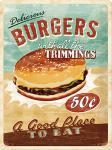 Burgers Blechschild