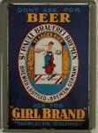 St.Pauli Brauerei Girl Brand Beer Mini-Blechschild
