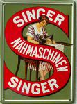 Singer Nähmaschinen Mini Blechschild
