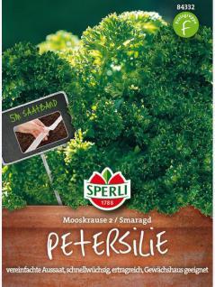 Petersilie SPERLING`s Mooskrause 2 Smaragd Saatband 5m
