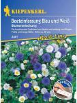 Blumenmischung Beeteinfassung Blau und Weiss einjährig Saatband 5mtr