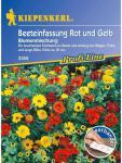 Blumenmischung Beeteinfassung Rot und Gelb einjährig Saatband 5 mtr