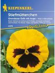 Viola x wittrockiana Stiefmütterchen Nebelungs Grandessa gelb mit Auge