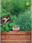 Die 3 Großen Kräuter: Bohnenkraut Dill Basilikum, Saatband 5m