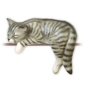 Katze Keramikkatze Träumer
