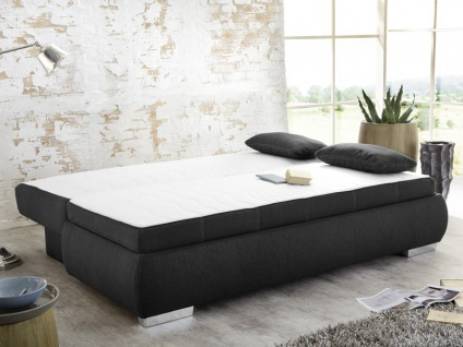 dauerschl fer schlafsofa merlin 210x112cm dunkel grau sofa boxspring kaufen bei vbbv gmbh co kg. Black Bedroom Furniture Sets. Home Design Ideas
