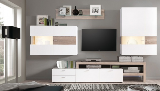 wohnzimmer schrankwand online bestellen bei yatego. Black Bedroom Furniture Sets. Home Design Ideas