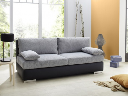 boxspring schlafsofa somerset hellgrau schwarz 202x106cm dauerschl fer kaufen bei vbbv gmbh. Black Bedroom Furniture Sets. Home Design Ideas