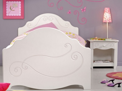 kinderbett anne 4 wei lackiert 90x200 mit nachttisch kinderzimmer kaufen bei vbbv gmbh co kg. Black Bedroom Furniture Sets. Home Design Ideas
